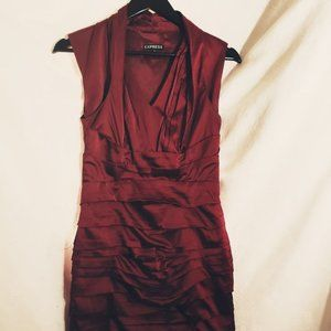 Silky Red Dress to Dance the night away